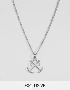Ожерелье с подвеской-якорем Simon Carter эксклюзивно для ASOS - Серебряный