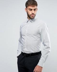 Рубашка узкого кроя в полоску Calvin Klein - Серый