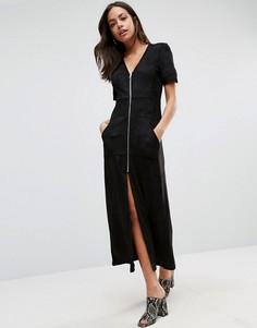 Платье макси на молнии Liquorish - Черный