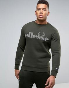 Свитшот с крупным логотипом Ellesse - Зеленый