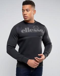 Свитшот с крупным логотипом на вставке Ellesse - Черный