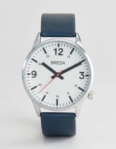 Часы с темно-синим кожаным ремешком Breda Slate - Темно-синий