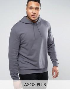 Серый oversize-худи ASOS PLUS - Серый