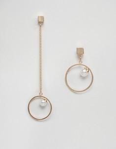 Непарные серьги-кольца Ashiana - Золотой
