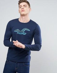 Лонгслив с логотипом Hollister - Темно-синий