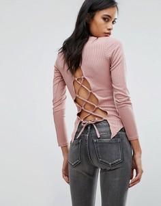 Топ со шнуровкой сзади Parisian - Розовый