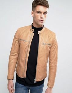 Кожаная куртка Replay - Рыжий