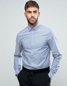 Узкая рубашка из ткани шамбре Calvin Klein - Синий