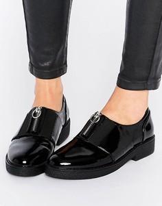 Туфли на плоской подошве с молнией спереди Blink - Черный