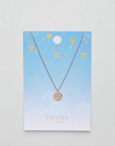 Ожерелье с подвеской-диском Лев Orelia - Золотой