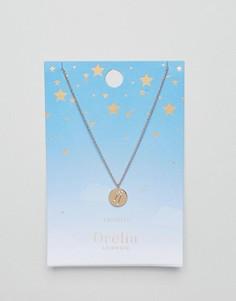 Ожерелье с подвеской-диском Телец Orelia - Золотой