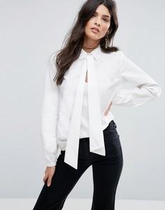 Рубашка с запахом и бантом Vila - Белый