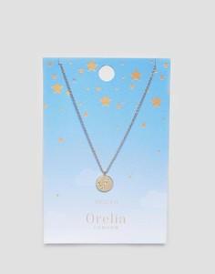 Ожерелье с подвеской-диском Рыбы Orelia - Золотой