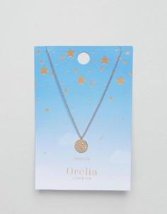 Ожерелье с подвеской-диском Дева Orelia - Золотой