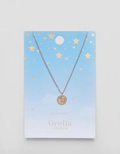 Ожерелье с подвеской-диском Водолей Orelia - Золотой