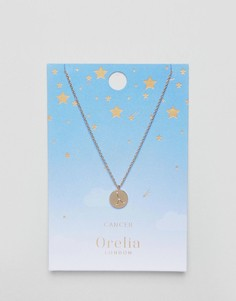 Ожерелье с подвеской-диском Рак Orelia - Золотой