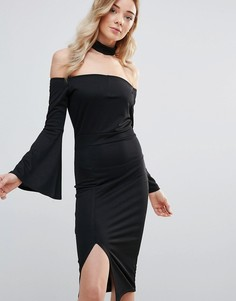 Платье миди Daisy Street - Черный