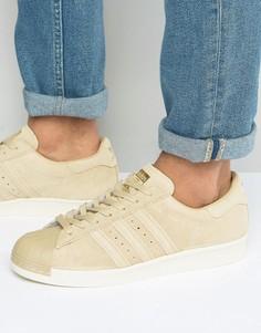 Кроссовки в стиле 80-х adidas Originals Superstar BB2227 - Бежевый
