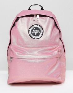 Розовый рюкзак металлик с перламутровым эффектом Hype - Розовый