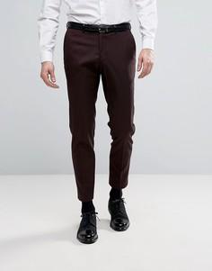 Строгие брюки скинни Burton Menswear - Красный