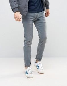 Сине-серые супероблегающие джинсы Burton Menswear - Синий