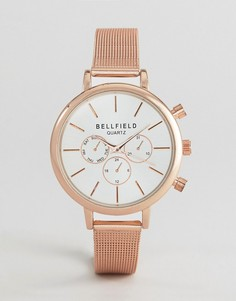 Часы цвета розового золота Bellfield - Золотой