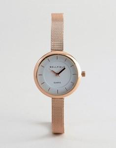 Часы цвета розового золота с узким ремешком Bellfield - Золотой