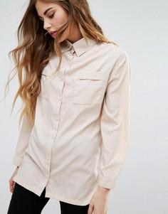 Рубашка с карманами спереди Daisy Street - Бежевый