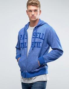 Худи на молнии с логотипом Russell Athletic - Синий