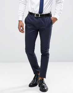 Суперузкие брюки из хлопкового сатина Only & Sons - Темно-синий