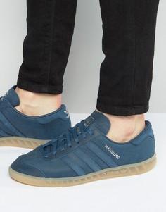 Синие кроссовки adidas Originals Hamburg BB4992 - Синий