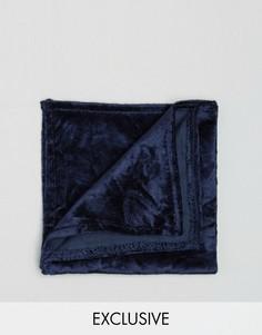 Платок для нагрудного кармана из мятого бархата Noose & Monkey - Темно-синий