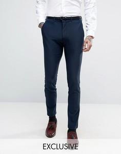 Трикотажные супероблегающие брюки Only & Sons - Темно-синий