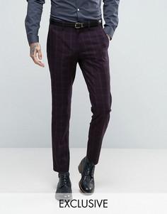 Зауженные брюки в клетку Only & Sons - Темно-синий
