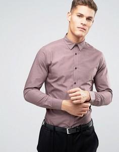 Розовато-лиловая рубашка классического кроя New Look - Серый