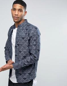 Рубашка с длинными рукавами и воротником на пуговицах Carhartt WIP - Синий