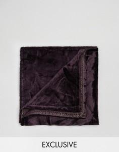 Платок для нагрудного кармана из мятого бархата Noose & Monkey - Фиолетовый