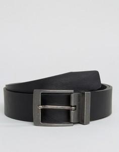 Черный ремень с металлической пряжкой New Look - Черный
