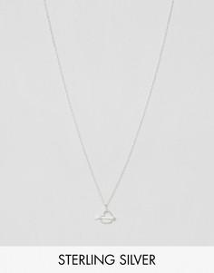 Серебряное ожерелье с подвеской в форме сердца и стрелы Reclaimed Vintage - Серебряный