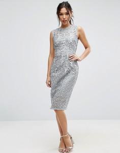 Кружевное платье-футляр Little Mistress - Серый