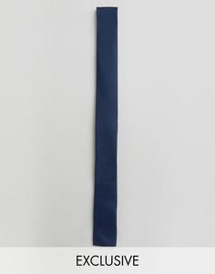 Галстук с квадратными концами Noak - Темно-синий