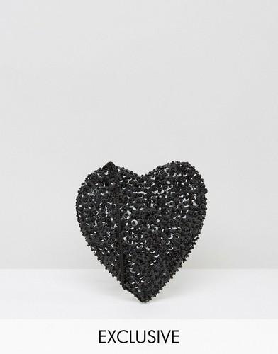 Сумка через плечо в форме сердца Reclaimed Vintage - Черный