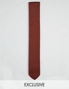 Классический трикотажный галстук Heart & Dagger - Коричневый