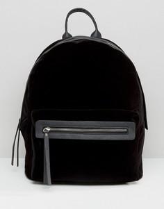 Бархатный рюкзак Pieces - Черный