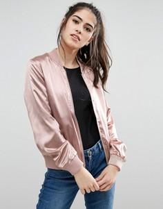 Атласная куртка-пилот Only Starly - Розовый