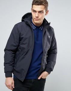 Темно-синяя утепленная куртка с капюшоном Fred Perry Brentham - Темно-синий