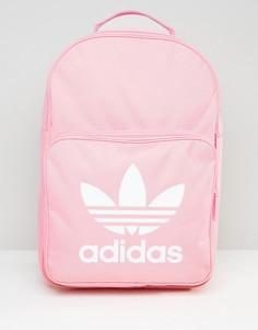 Розовый рюкзак с логотипом-трилистником аdidas Originals - Розовый Adidas