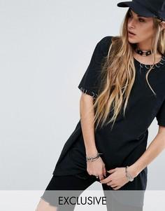 Свободная футболка Reclaimed Vintage - Черный