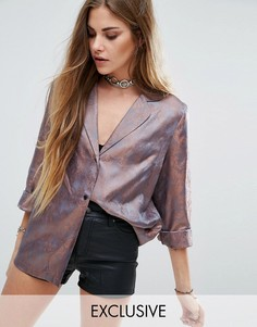 Жаккардовая рубашка в пижамном стиле Reclaimed Vintage - Черный