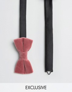 Бархатный галстук-бабочка Noose & Monkey - Розовый